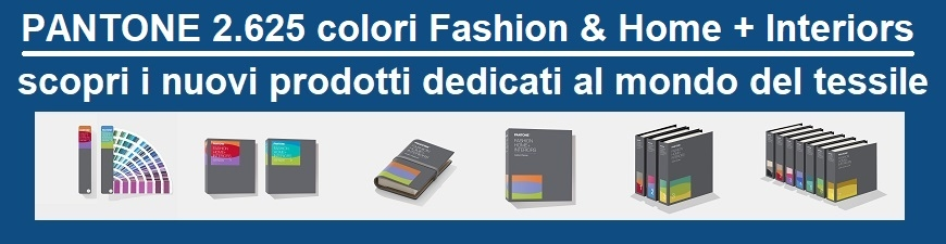 Pantone 2.625 colori Fashion & Home + Interiors
